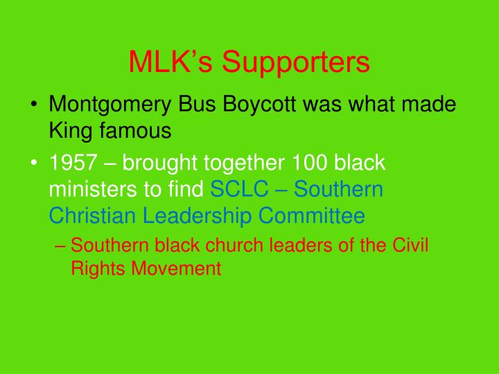 MLK's Supporters