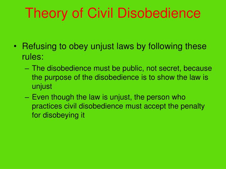 Theory of civil disobedience