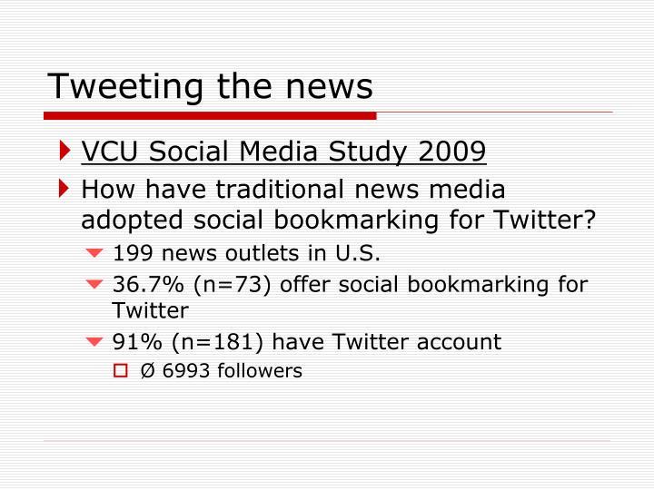 Tweeting the news