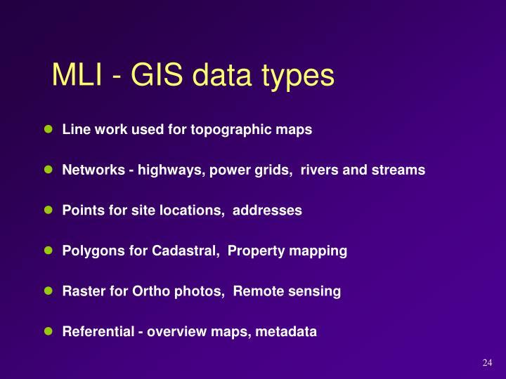 MLI - GIS data types