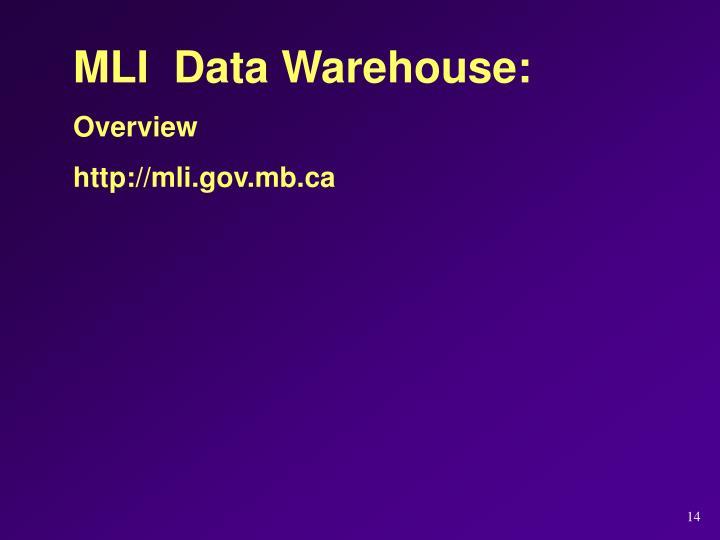 MLI  Data Warehouse: