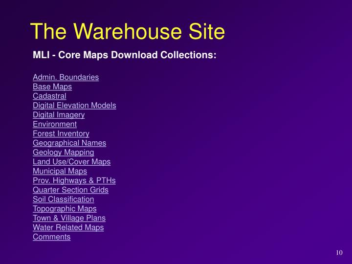 The Warehouse Site