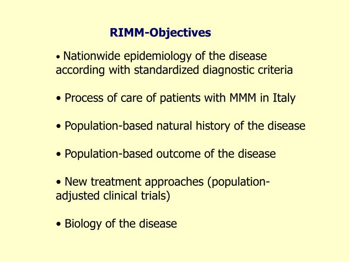 RIMM-Objectives