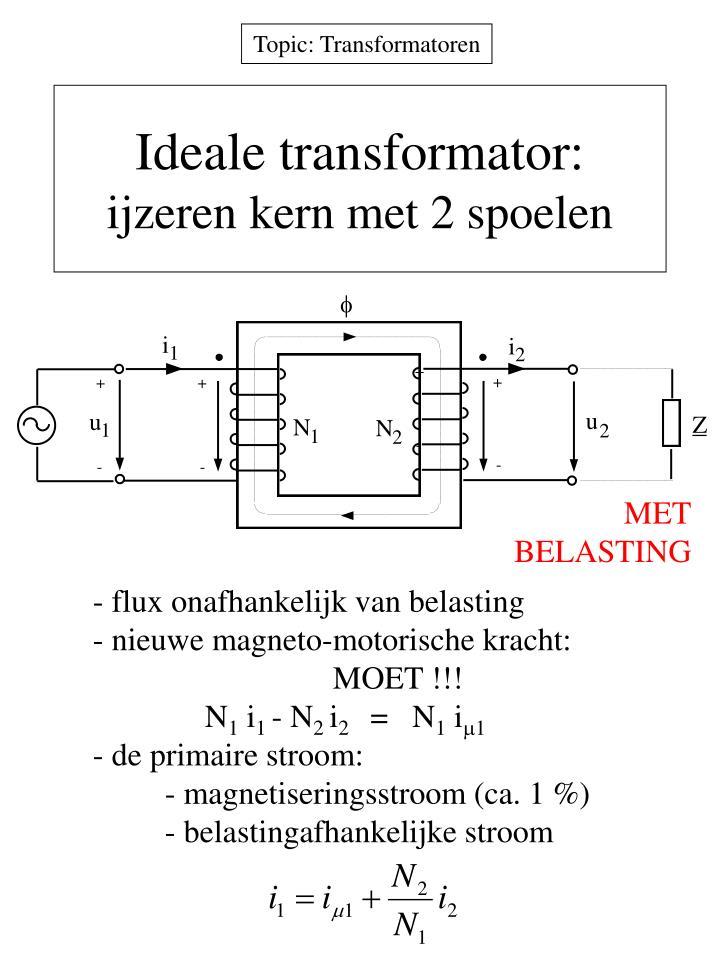 Ideale transformator: