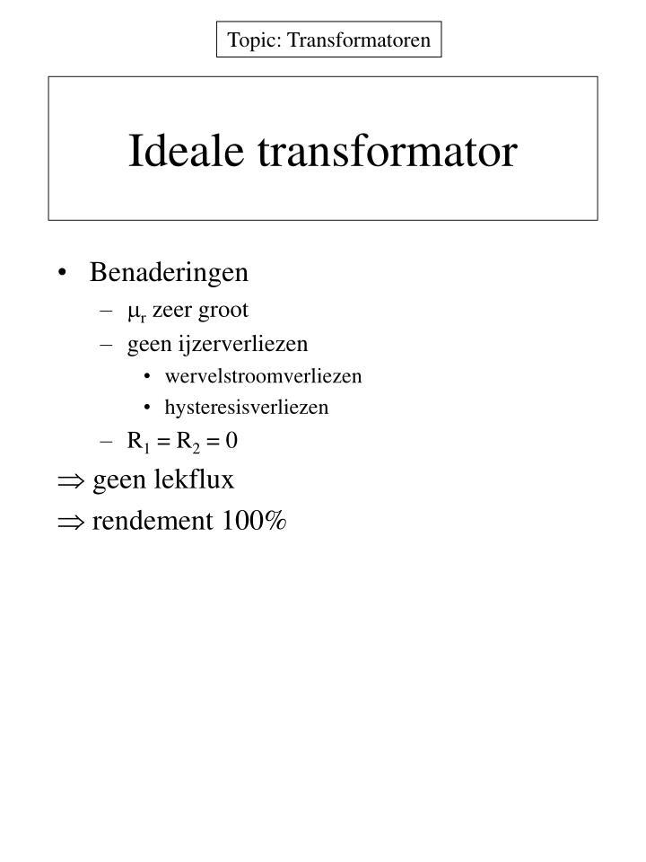 Ideale transformator