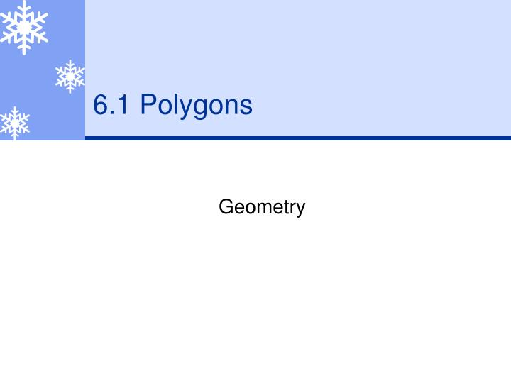 6 1 polygons