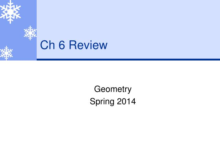Ch 6 Review