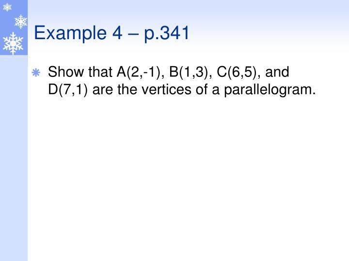 Example 4 – p.341