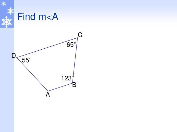 Find m<A