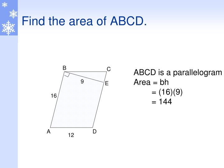 Find the area of ABCD.