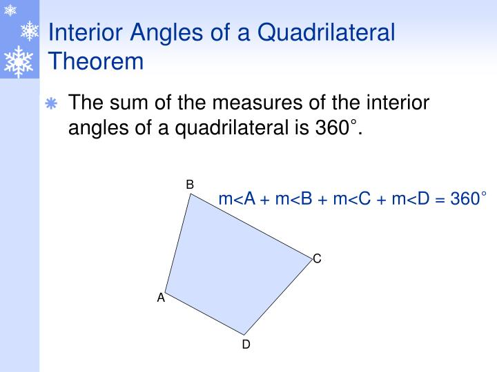 Interior Angles of a Quadrilateral Theorem