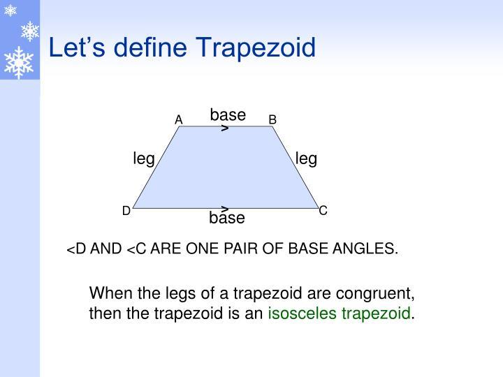 Let's define Trapezoid
