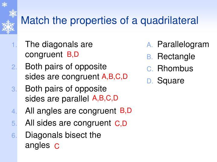 The diagonals are congruent