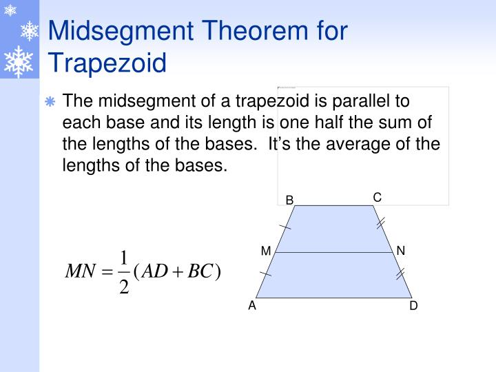 Midsegment Theorem for  Trapezoid