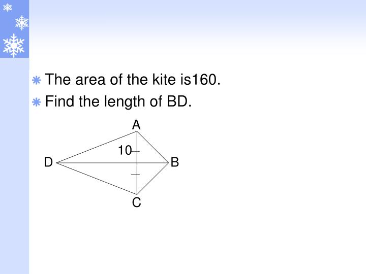 The area of the kite is160.