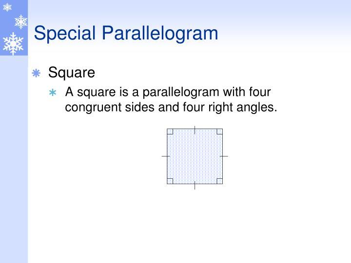 Special Parallelogram