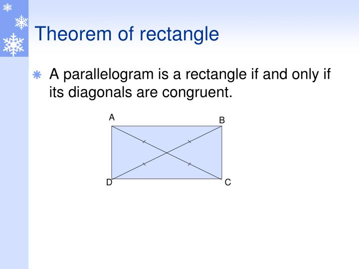 Theorem of rectangle