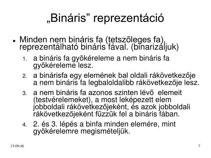 """""""Bináris"""" reprezentáció"""