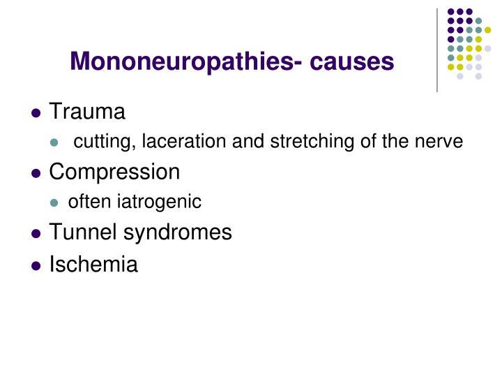 Mononeuropathies- causes