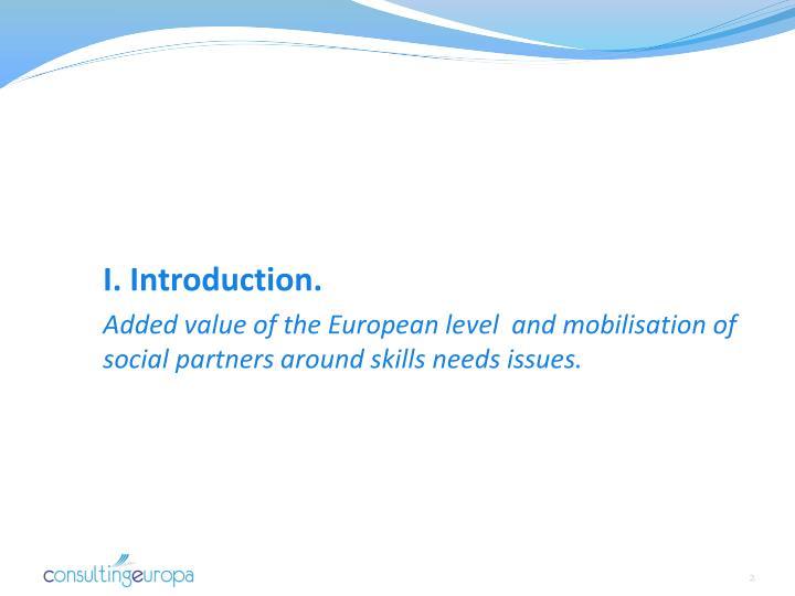 I. Introduction.