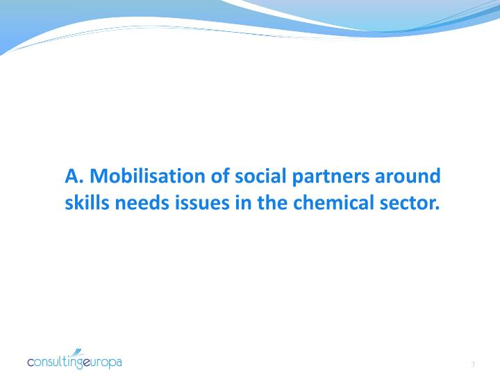 A. Mobilisation of social partners around skills needs issues in the chemical sector.