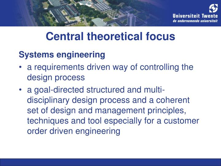 Central theoretical focus