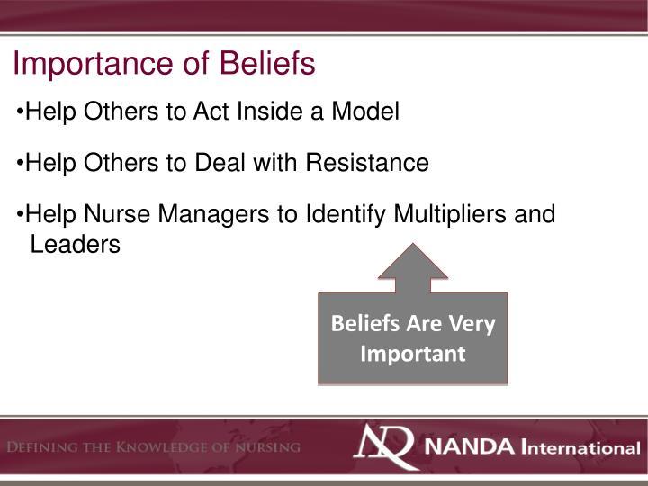 Importance of Beliefs