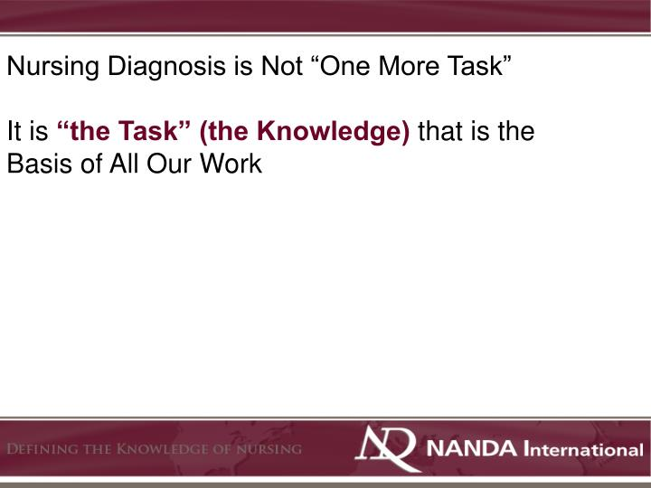 "Nursing Diagnosis is Not ""One More Task"""