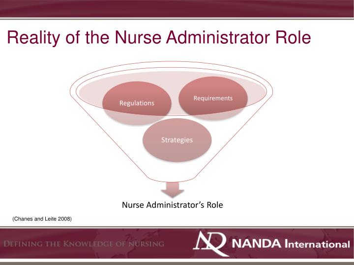 Reality of the Nurse Administrator Role