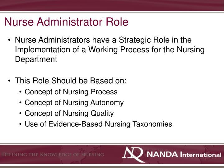 Nurse Administrator Role