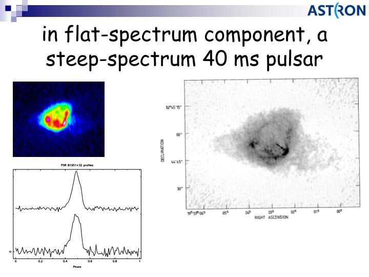 in flat-spectrum component, a steep-spectrum 40 ms pulsar