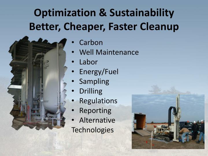 Optimization & Sustainability
