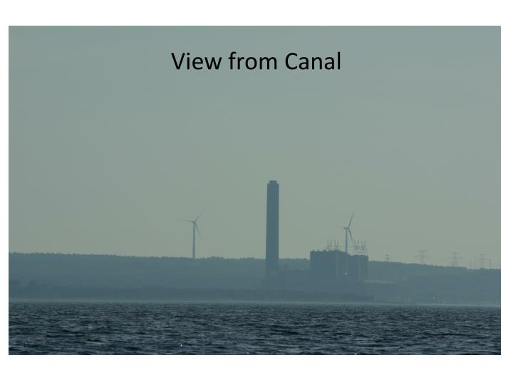 View from Canal