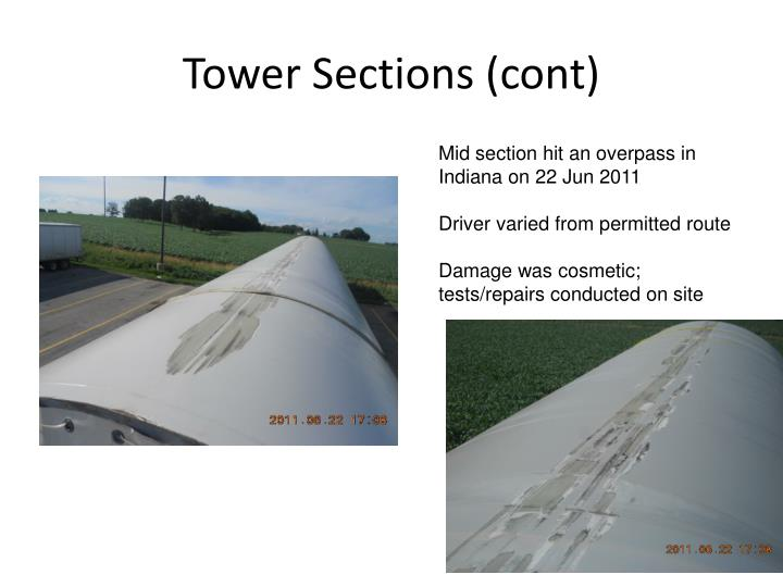 Tower Sections (cont)