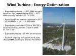 wind turbine energy optimization