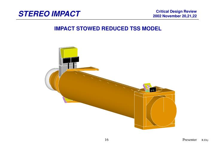 IMPACT STOWED REDUCED TSS MODEL