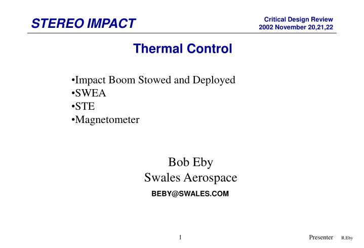 Thermal Control