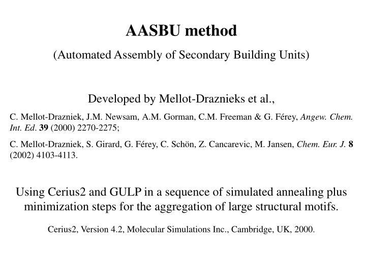 AASBU method