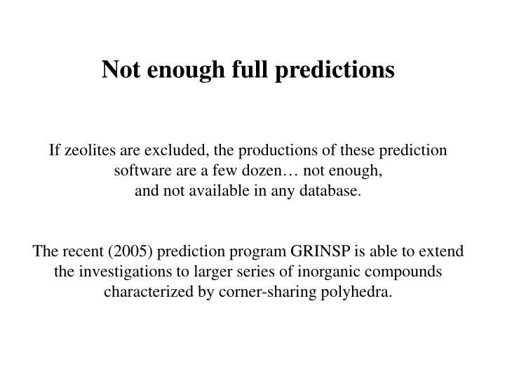 Not enough full predictions