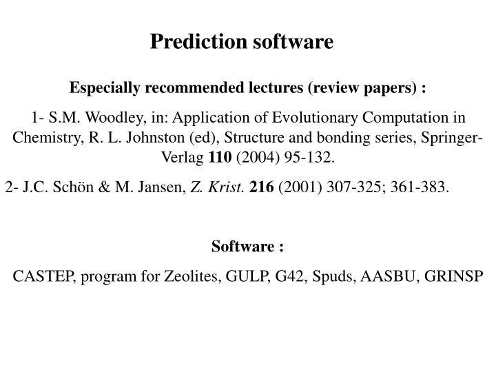 Prediction software