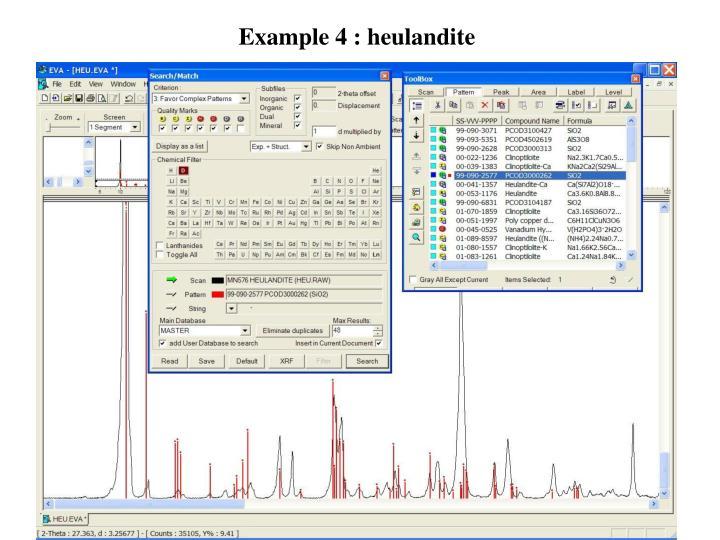 Example 4 : heulandite