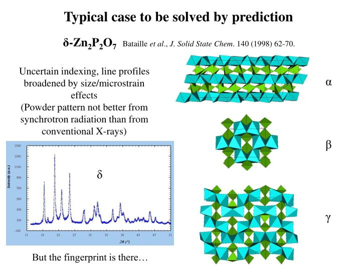 Typical case to be solved by prediction