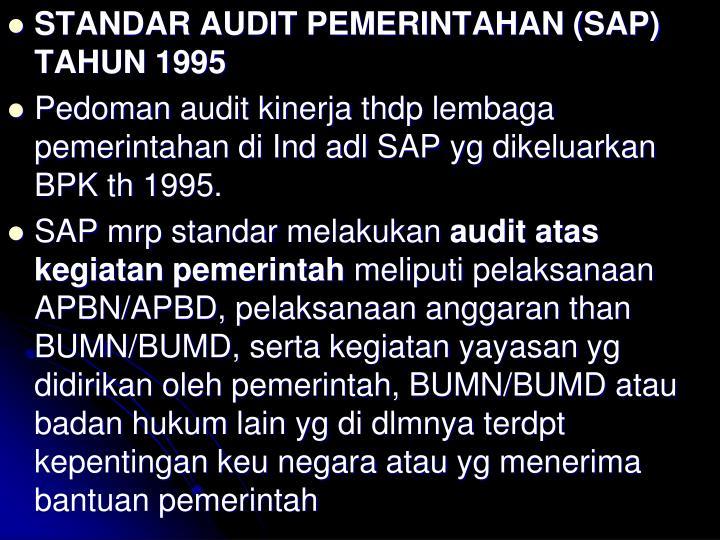 STANDAR AUDIT PEMERINTAHAN (SAP) TAHUN 1995