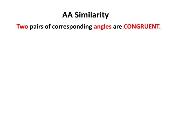AA Similarity
