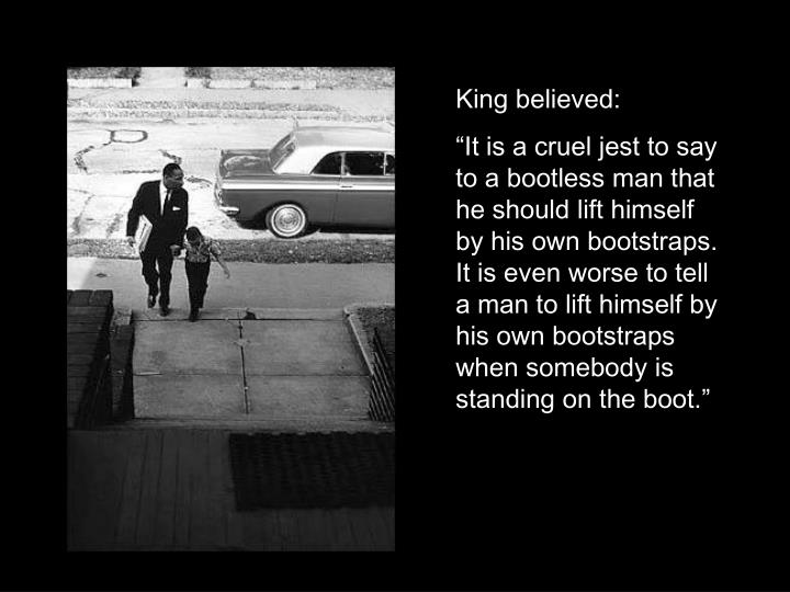 King believed: