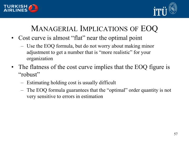 Managerial Implications of EOQ
