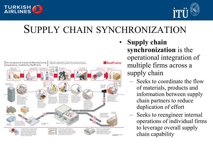 Supply chain synchronization