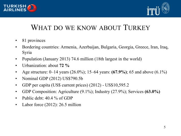 What do we know about Turkey