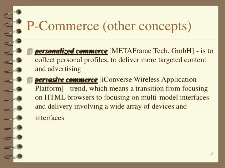 P-Commerce (other concepts)