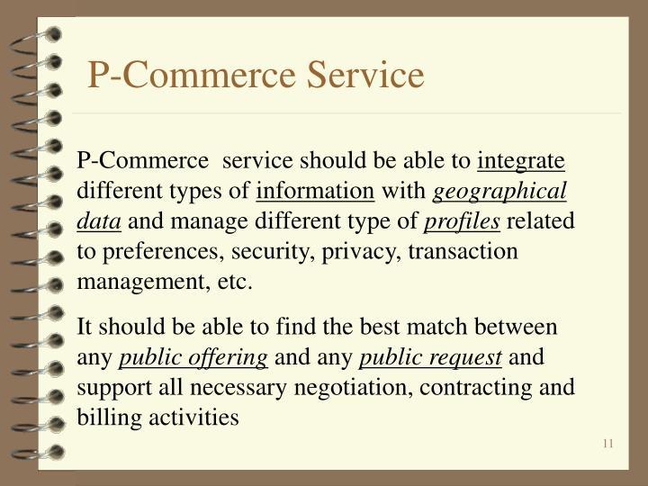 P-Commerce Service